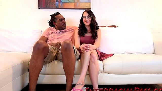 horny eva sucked a big black dick
