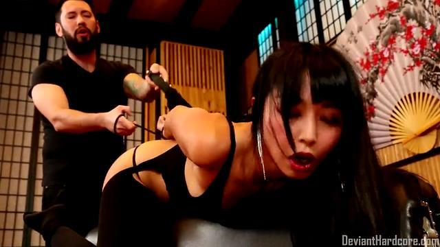 naughty asian bitch eats sperma